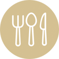 dining utensils icon